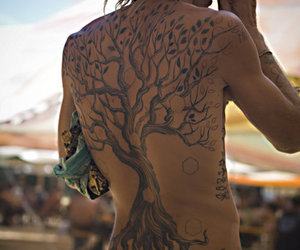 tattoo, tree, and dreads image