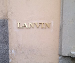 Lanvin and fashion image