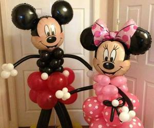 balloons, disney, and minnie image