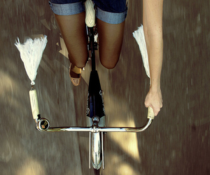 bike, bicycle, and legs image