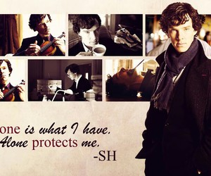 alone, lonely, and sherlock image