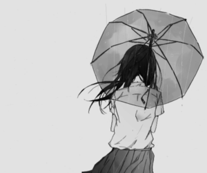 anime, manga, and rain image