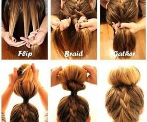 braids, bun, and hairstyles image