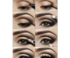 black, make-up, and mascara image