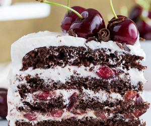 chocolate, cake, and cherry image