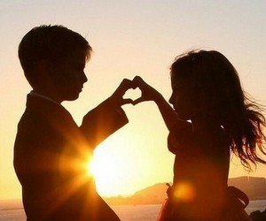 couple, Relationship, and sunset image