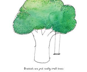 broccoli and drawing image