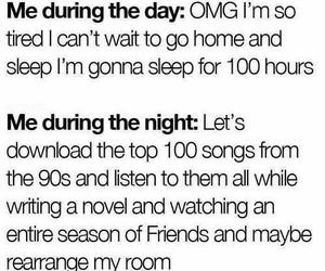 funny, sleep, and night image
