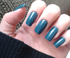 blue, nails, and pic image
