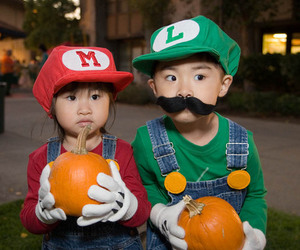 mario, luigi, and kids image