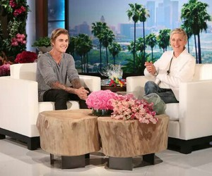 justin bieber, ellen, and smile image