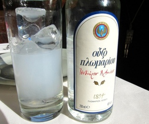 drink, Greece, and ouzo image