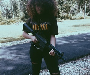 curly hair, dope, and gangster image