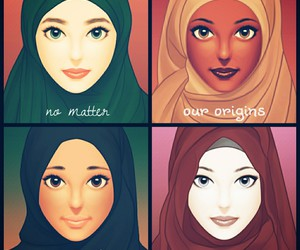 islam, muslim, and hijab image