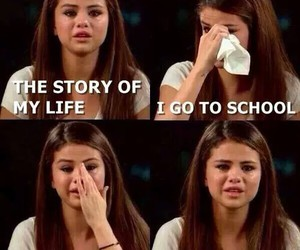 poop, school, and selena gomez image