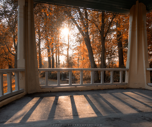 autumn, building, and nature image
