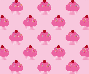 cupcake, background, and pink image