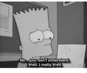 sad, quotes, and simpsons image