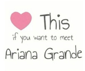 ariana grande and meet image