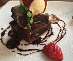 brownie, cake, and dessert image