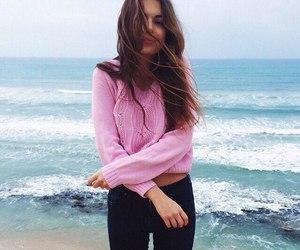 girl, fashion, and sea image