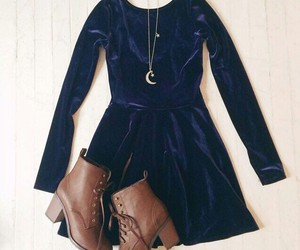 boots, jacket, and dress image