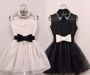 black, girly, and dress image