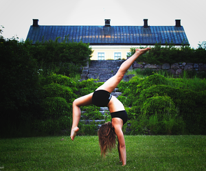 flexible and girl image