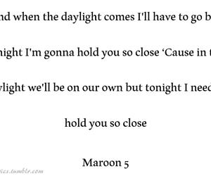 daylight, Lyrics, and maroon 5 image