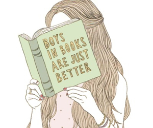 books, boys, and nice pic image