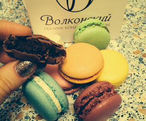 colour, macaroons, and russia image