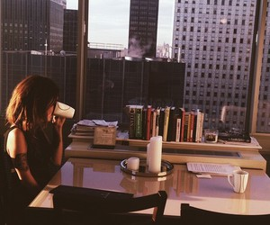 coffee, city, and morning image