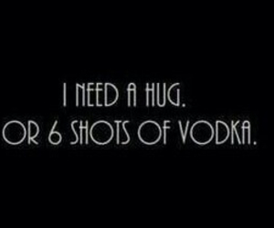 vodka, hug, and shot image