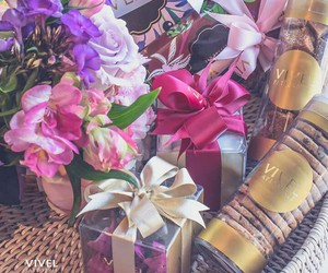 biscuits, gifts, and flowers image