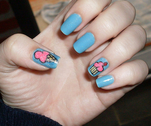 cup cake, ice cream, and nails image