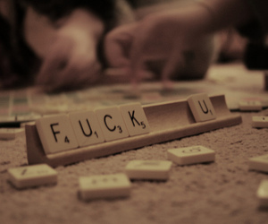 fuck, photography, and scrabble image