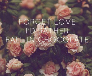 chocolate, quotation, and nature image