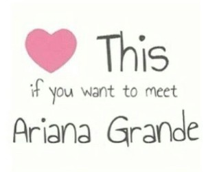 ariana grande, heart, and meet image
