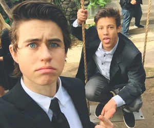boys, cash, and funny face image