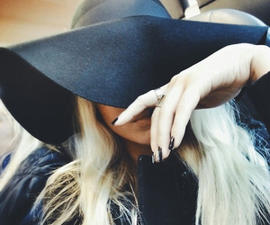girl, fashion, and hat image