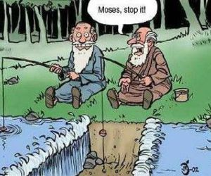 funny, Moses, and fishing image