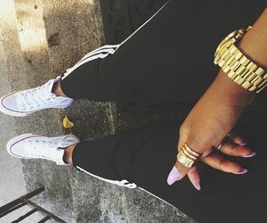 converse, nails, and adidas image