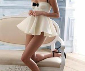 sexy, dress, and white image