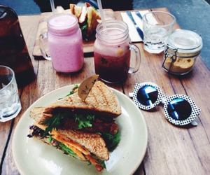drink, sandwiches, and food image