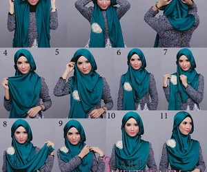 hijab, islam, and hijab tutorial image