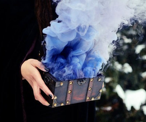 blue, smoke, and magic image