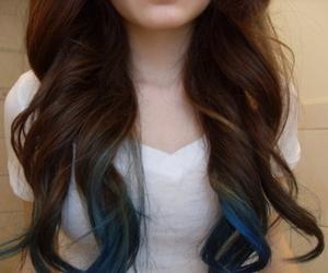 dip dye, hair, and girl image