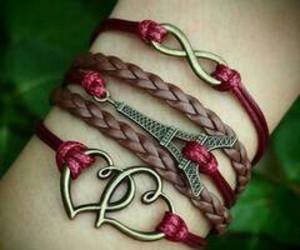 bracelet, paris, and heart image