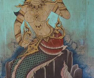 art, mermaid, and thai mermaid image
