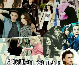 Jamie Campbell Bower, perfect couple, and lily collins image